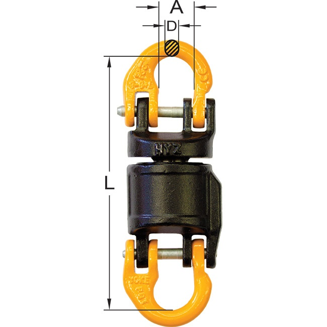 insulated swivel hook