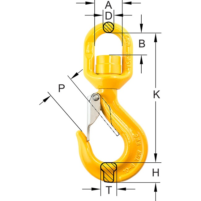 swivel hook with ball bearing