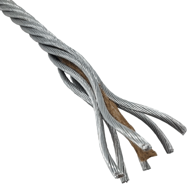 wire rope galvanised fibre core