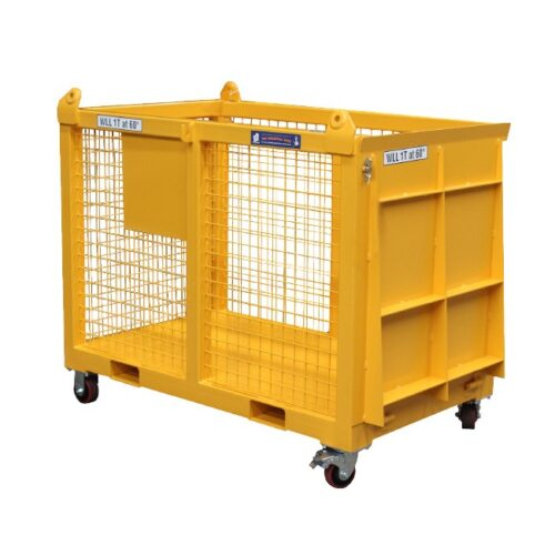 goods cage with ramp