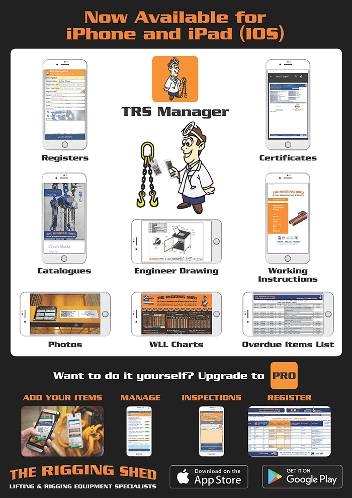 TRS the rigging shed app manager ios apple android